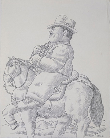 Fernando Botero 1980 Penicl on paper 48 x 36 cm 4