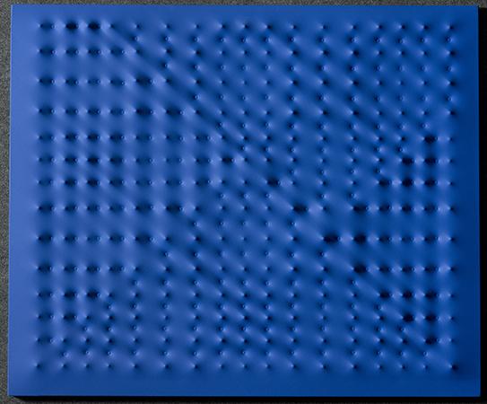 Enrico Castellani 2009 Acrylic on canvas 100 x 120 cm 1